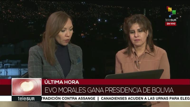 Evo Morales suma 46 86% de los votos con 95 16% de actas escrutadas