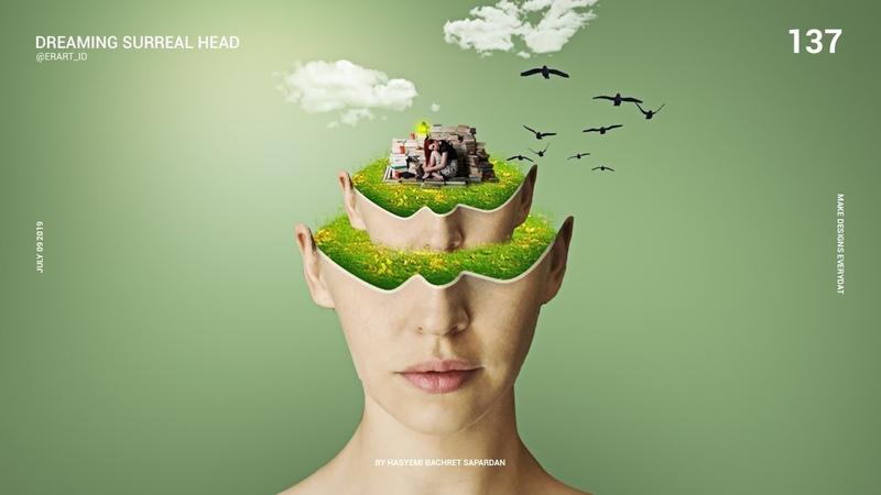 Dreaming Surreal Head - Tutorial Photoshop CC 2019