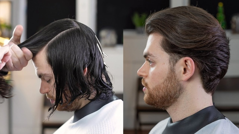 Transformation Classic Mid Length Men's Haircut With Disconnection Rum Barber Tutorial