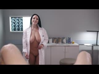 Angela White - Full Body Physical Exam (Big Tits, Big Ass, Doctor, Nurse, Blowjob, Black Hair, Natural Tits)