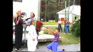 № 34. 1995 год. Торжественная линейка в честь открытия 3-й смены.