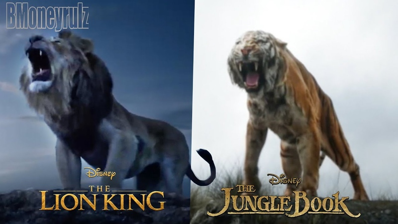 THE LION KING 2019 Side By Side w JUNGLE BOOK 2016