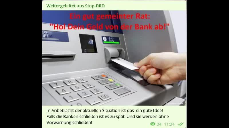 YT Kanal ProFinanz Du solltest jetzt Dein Bankguthaben abholen solange es noch möglich ist