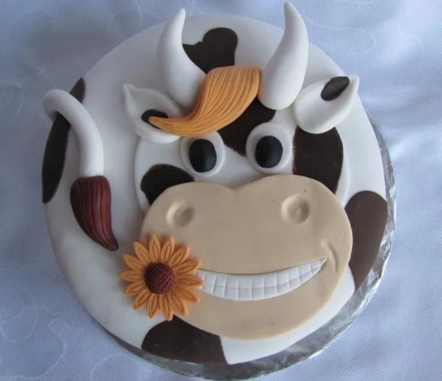 как сделать  Торт «Счастливая корова» тз мастики  - рецепт