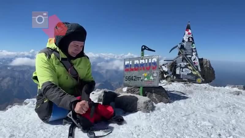 Лишившийся ног альпинист покорил Эльбрус