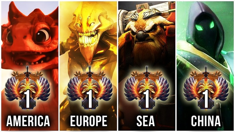 THE BEST PRO PLAYERS IN THE WORLD - TOP 1 OF EVERY REGION (SUPPORT-MMR) - Dota 2