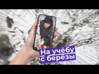 Парню из Омской области приходится забираться на березу, чтобы выйти в интернет для учебы