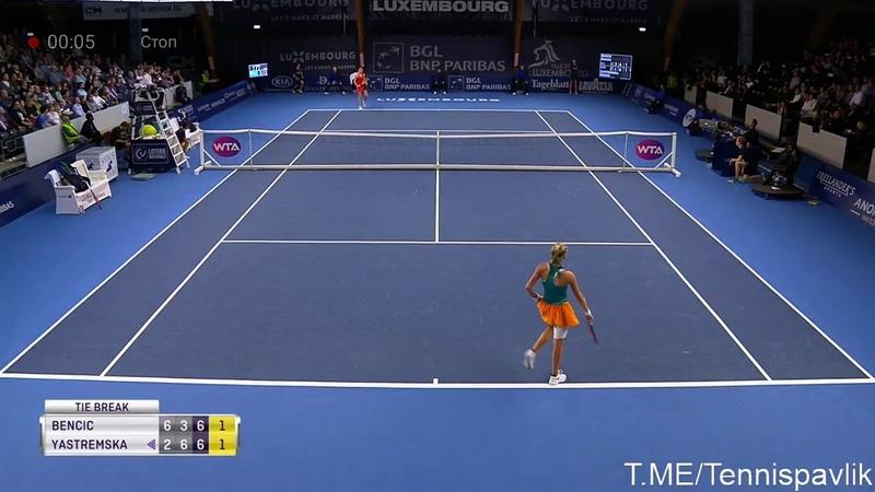 Быстрее гепарда Невероятный розыгрыш гейма в теннисе Ястремская Бенчич