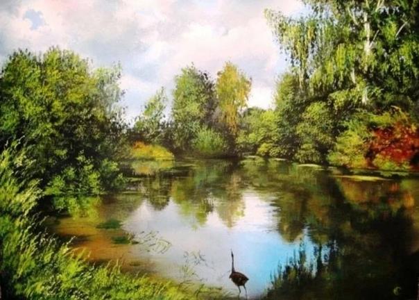 Сергей Ковальчук. Талантливый пейзажист и мастер своего дела. В его картинах есть что-то такое, что задевает и душу и тело. Он мастерски передает всю красоту жизни. Красота родной земли, далеких