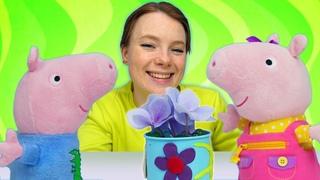 Spielzeug Video mit Peppa Wutz. Schorsch macht Irenes Lieblingstasse kaputt