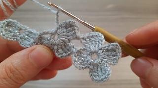 Very Beautiful Flower Crochet Pattern With Silvery Yarn ( Knitting Love ) çok güzel tığ işi örgü