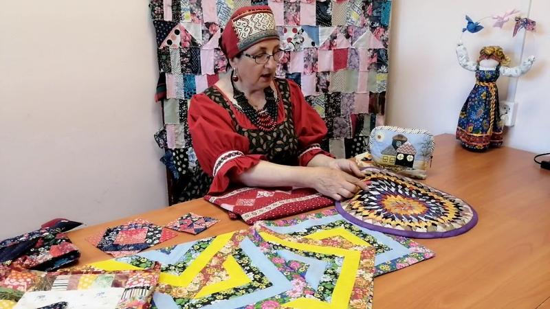 Разговор о лоскутном шитье с ведущим методистом по женским ремесла Валдайского ДНТ Гаркавенко И В