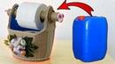 DETERJAN BİDONUNUN EFSANE DÖNÜŞÜMÜ Deterjan Bidonundan Tuvalet Kağıtlık Yapımı Recycling