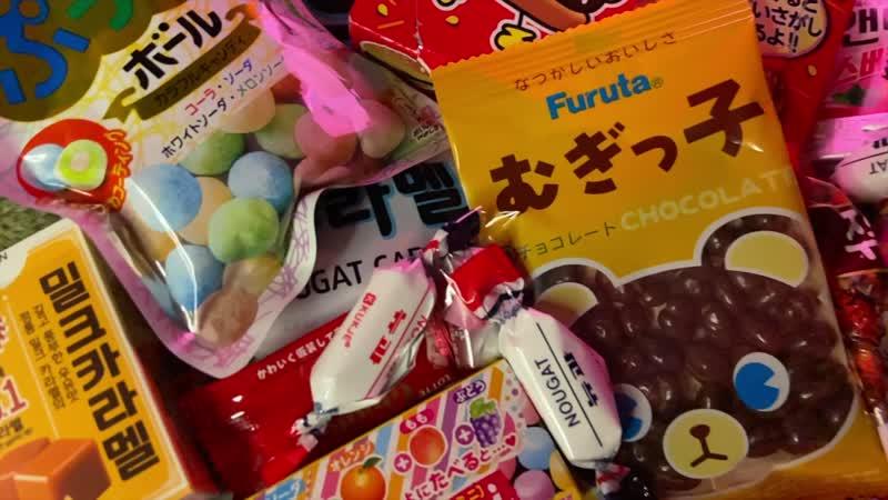 КАВАЙНЫЙ ОБЗОР японских сладостей в наборах ^^