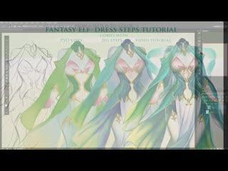 SakimiChan ART  - term 35 - fantasy_elf_dress_videotutorial