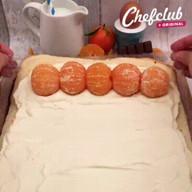 id_31398 Бисквитный рулет с мандаринами 🍊  Автор: Chef Club  #gif@boя
