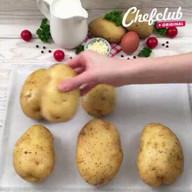 id_32846 Невероятные картофельные лодочки 😋  Автор: Chef Club  #gif@bon
