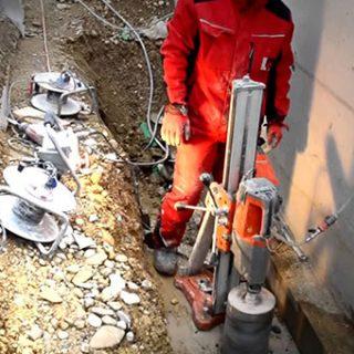 Алмазное бурение бетона в Калуге