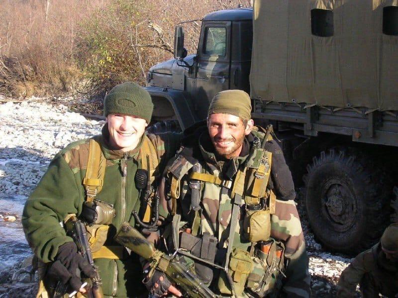 Дмитрий Жидков с сослуживцем на точке эвакуации групп бронегруппой отряда после...