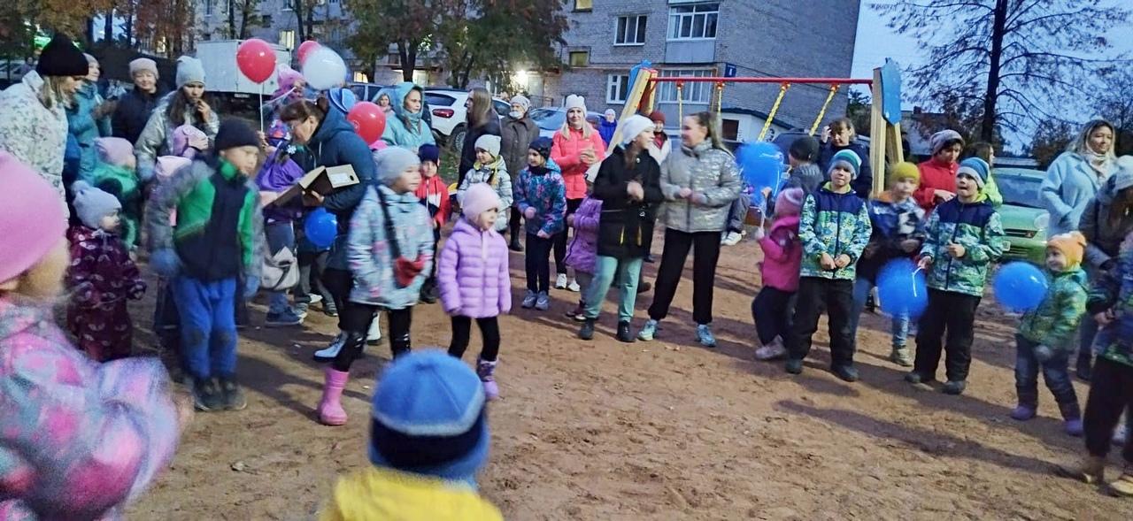 В Можге открыли детскую площадку 🎉🎉🎉