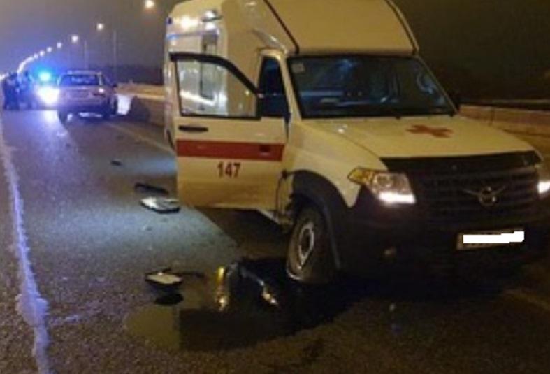 В КЧР автомобиль скорой помощи попал в ДТП