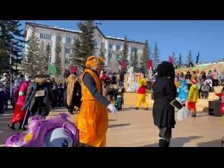 На «Проводах зимы» в якутском г. Покровск, детский сад «Сардаана».