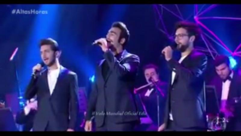 Шоу Серджио Гройсмана Altas Horas 28 10 2017 Rio De Janeiro BR Guests at Altas Horas singing Libiam ne' lieti calici