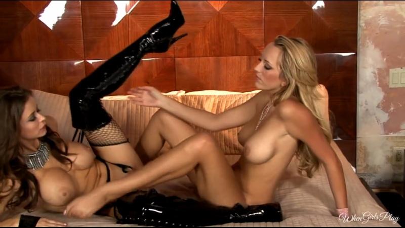 Emily Addison in sexy long boots teach pleasure Brett Rossi [Lesbians, Brunette, Big Tits, High Heels]