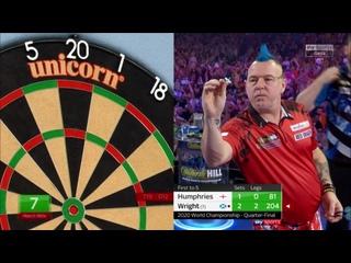 Peter Wright vs Luke Humphries (PDC World Darts Championship 2020 / Quarter Final)