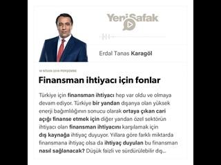 Erdal Tanas Karagöl - Finansman ihtiyacı için fonlar -