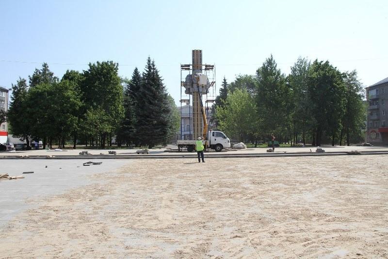 В Рыбинске завершается ремонт Комсомольской площади за 14 миллионов. Фото