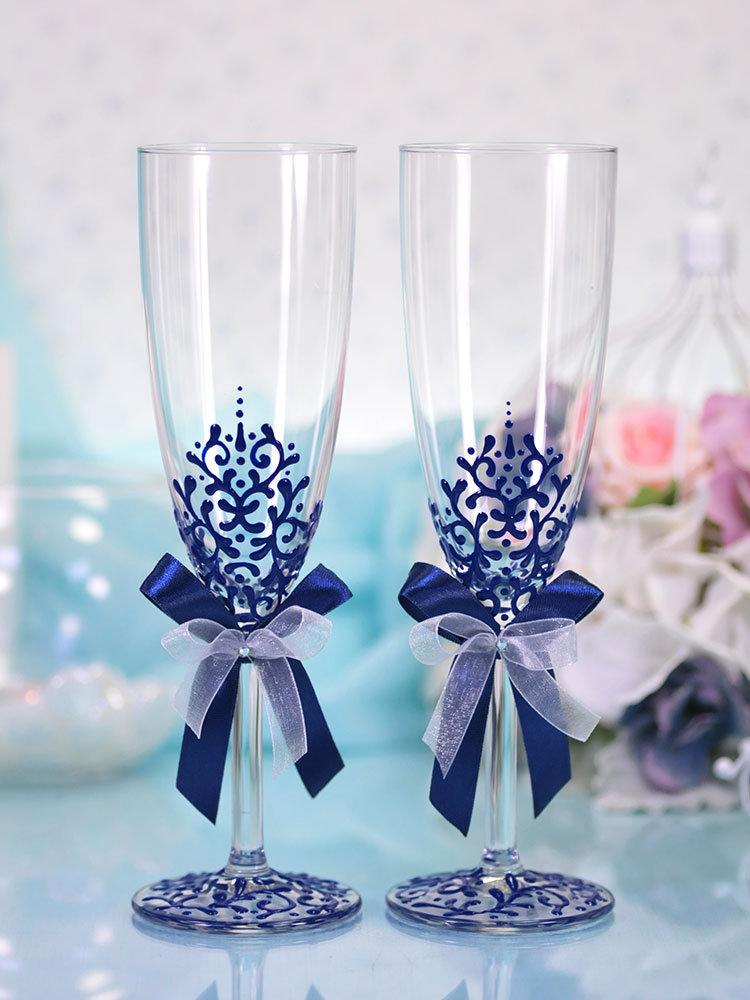 b7gELPKsRk - Красивые свадебные фужеры