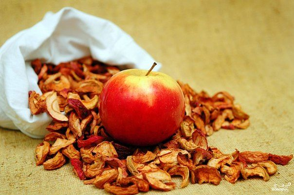 Про сушеные яблоки  Сушеные яблоки содержат: кальций, калий, железо,...