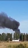 В Липецком районе горит заброшенный мясокомбинат (видео)