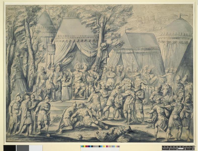 Попытка убийства Парсены. рисунок 1710 год