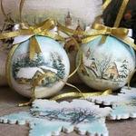 Декупаж новогодних шаров — МК и идеи