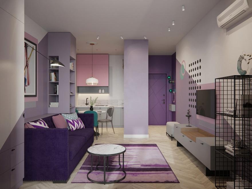 Концепт квартиры-студии 29 м с присоединенной лоджией.