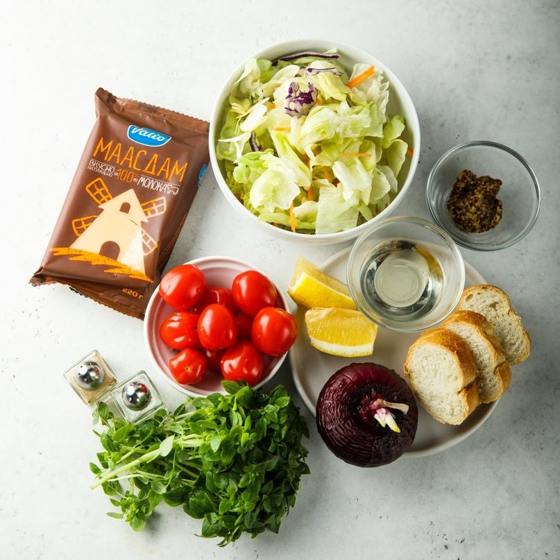Теплый овощной салат с сыром 🧀