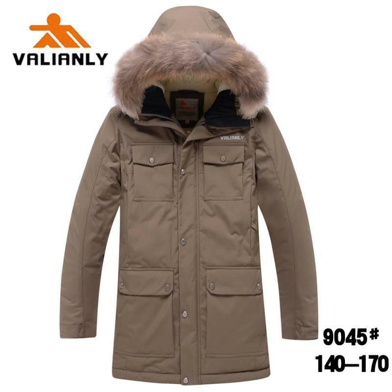 Зимняя парка Valianly 9045 хаки