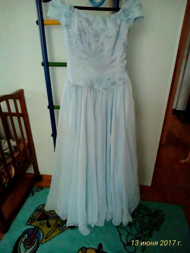 Нежно - голубое платье! 1раз одевали. | Объявления Орска и Новотроицка №23622