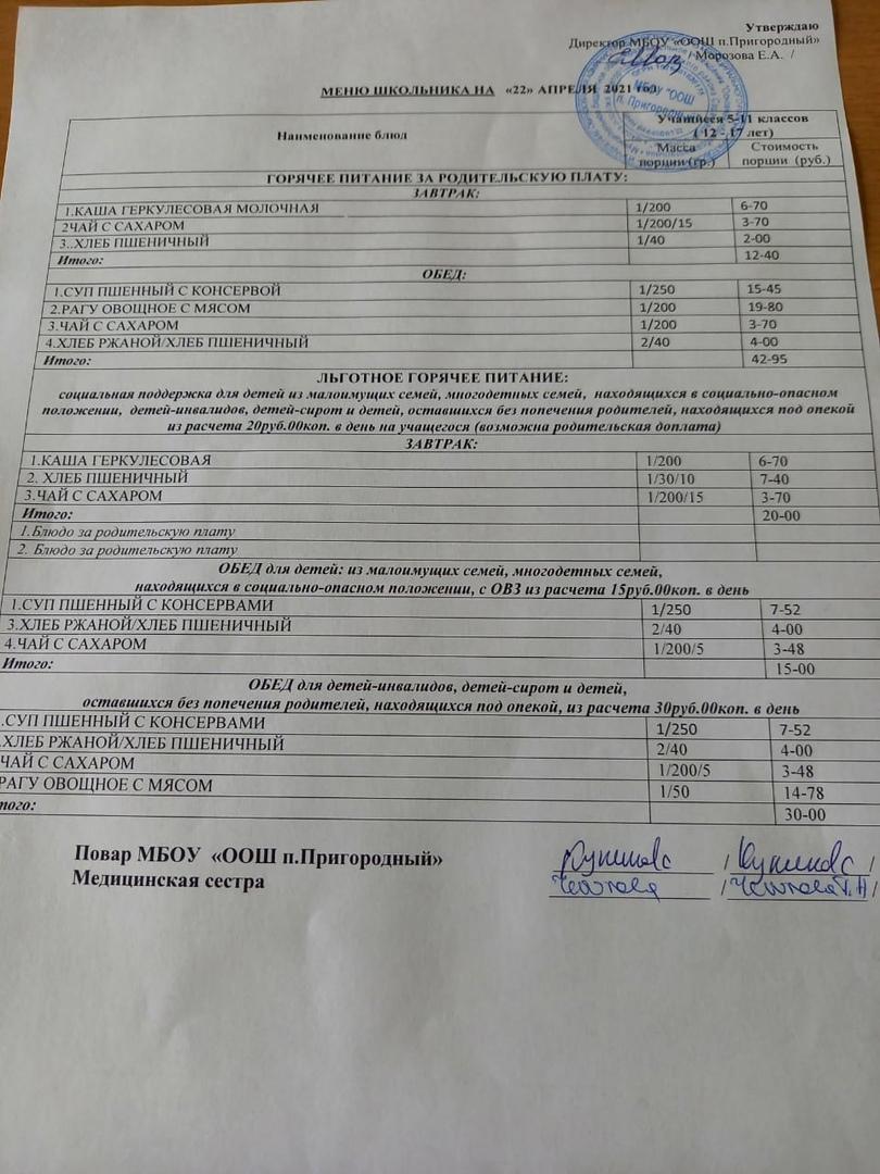 В одной из школ Петровского района зафиксировали нарушение организации питания учащихся