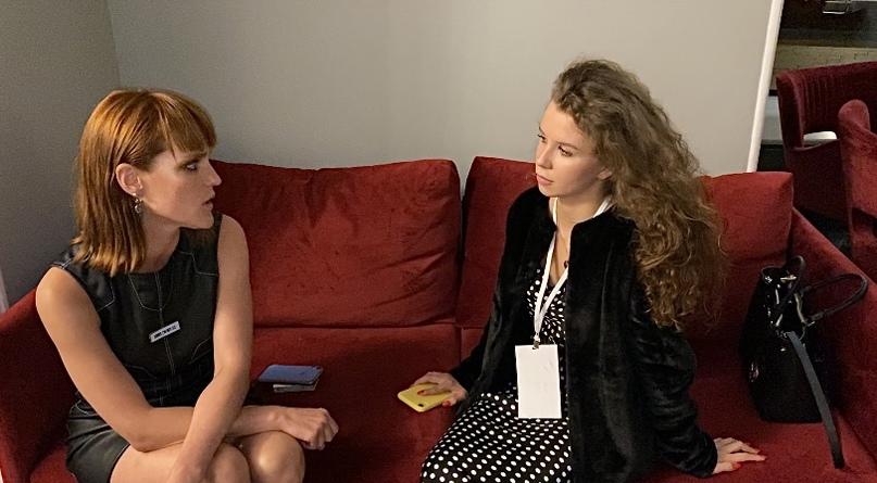 Актриса Александра Черкасова и корреспондент Мария Достоевская