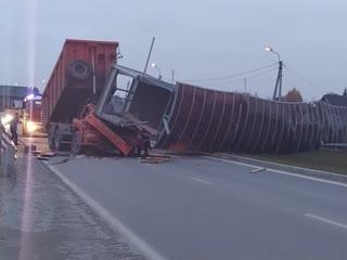 На выезде из Ектеринбурга рухнул пешеходный мост