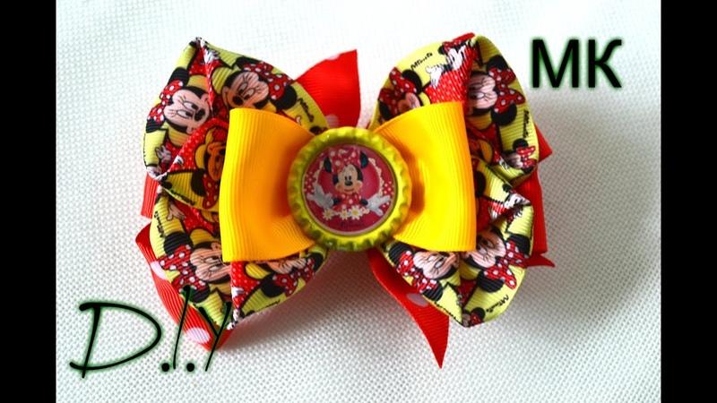 Мультяшные бантики Для маленьких красавиц Bows kanzashi Minnie Mouse