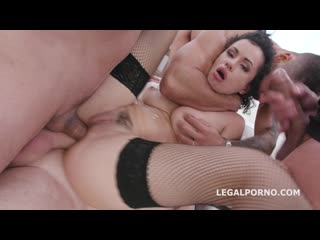 Legal Porno - Manhandle Stacy Bloom 4on1 Rough Sex Balls Deep Anal, Gapes, DAP and Swallow