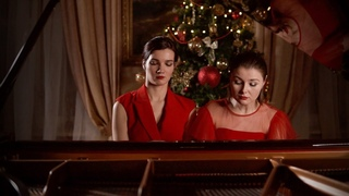J. Brahms Hungarian Dance No. 5  F# minor. Piano Duo ST-duo Sofia Sakhnova & Antonina Luzko