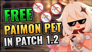 [1.2 BUG] FREE EMERGENCY FOOD as your PET (KAMERA with Paimon) Genshin Impact Lost Riches Seelie Pet