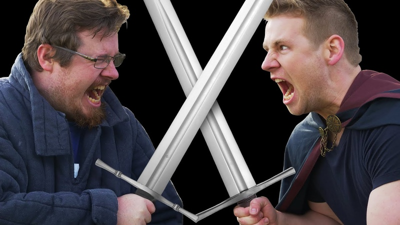 Can I teach a MEGA NOOB how to SWORD FIGHT? feat Draw with Jazza!