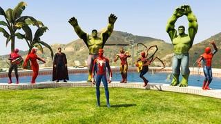 GTA 5 Water Ragdolls Spiderman vs Sharks in Pool (Jumps/Fails/Parkour Euphoria Physics)