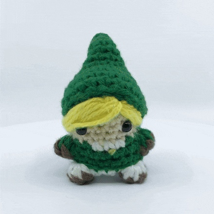 Crocheted Link from Zelda, he's actually a finger puppet too! - Create, Discover and Share Awesome GIFs on Gfycat